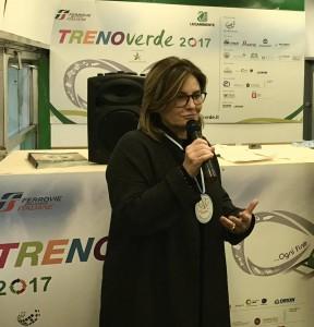 Susanna Martucci (CEO Alisea) durante la premiazione